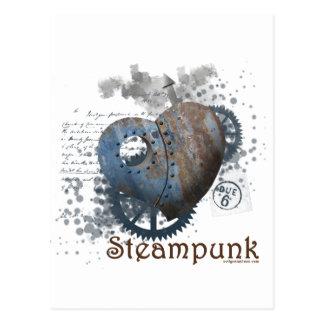 Corazón clavado amor de Steampunk Tarjetas Postales