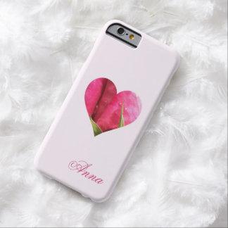 Corazón color de rosa conocido de encargo funda barely there iPhone 6