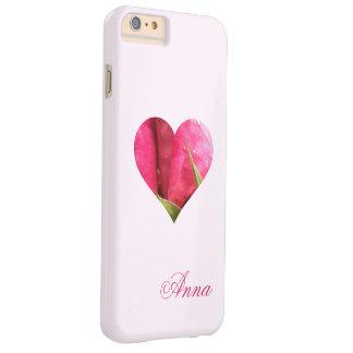 Corazón color de rosa conocido de encargo funda barely there iPhone 6 plus