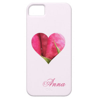 Corazón color de rosa conocido de encargo funda para iPhone SE/5/5s