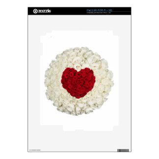 Corazón color de rosa en blanco calcomanía para iPad 2