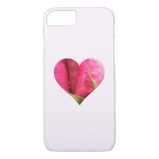 Corazón color de rosa funda iPhone 7