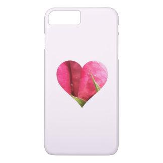 Corazón color de rosa funda iPhone 7 plus
