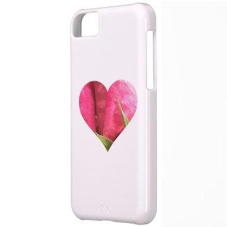 Corazón color de rosa funda para iPhone 5C