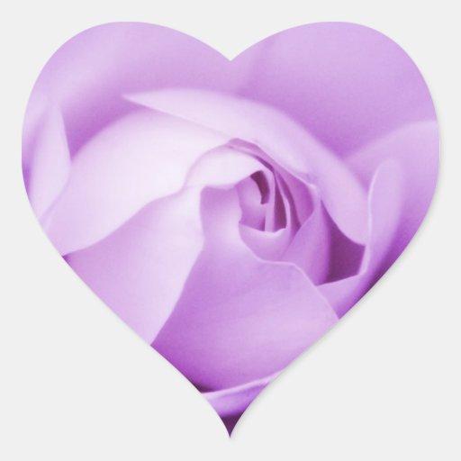 Corazón color de rosa púrpura del sello del sobre pegatina de corazon personalizadas