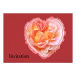 Corazón color de rosa rosado comunicados