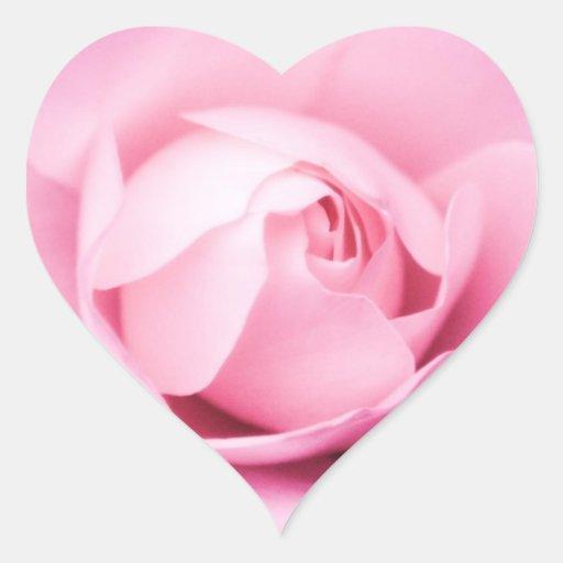 Corazón color de rosa rosado del sello del sobre d pegatina corazón personalizadas