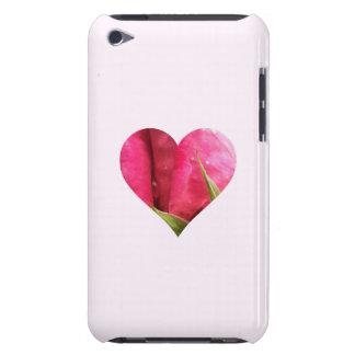 Corazón color de rosa rosado iPod Case-Mate coberturas