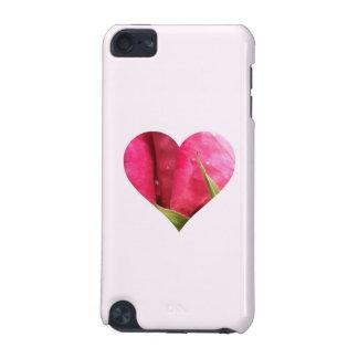 Corazón color de rosa rosado