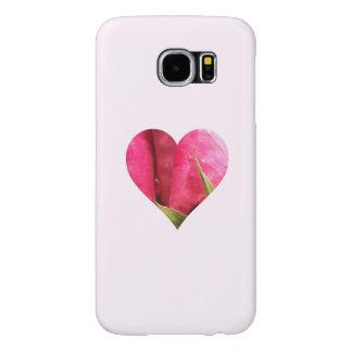 Corazón color de rosa rosado romántico fundas samsung galaxy s6