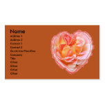 Corazón color de rosa rosado plantillas de tarjetas de visita