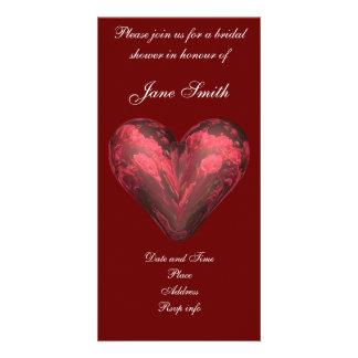 Corazón color de rosa tarjeta personal