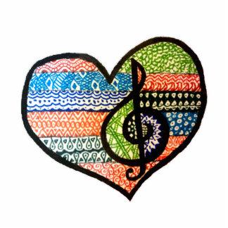 Corazón colorido adaptable de los amantes de la imán fotoescultura