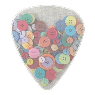 Corazón colorido de los botones