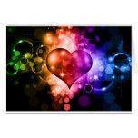 Corazón colorido felicitación