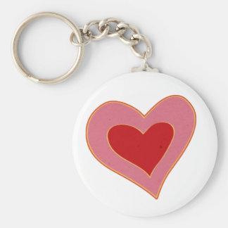 corazón colorido llaveros personalizados