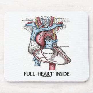 Corazón completo dentro alfombrilla de raton