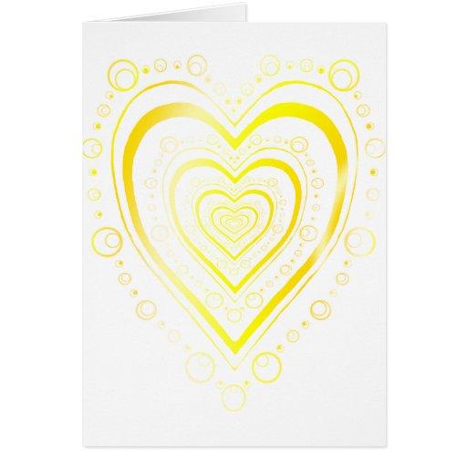 Corazón completo tarjeta de felicitación