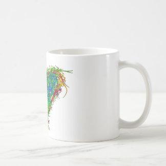Corazón completo taza de café