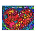 Corazón complicado postal