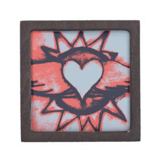 Corazón con alas caja de joyas de calidad