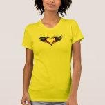 Corazón con alas camiseta