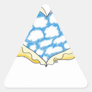 CORAZÓN CON ALAS CIELO de Ruth I. Rubin Calcomania De Trianguladas