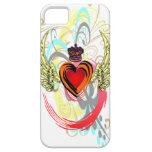 Corazón con alas con el caso del iPhone 5 de la co iPhone 5 Case-Mate Funda