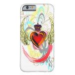 Corazón con alas con el caso del iPhone 6 de la Funda De iPhone 6 Barely There