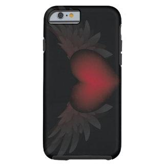 Corazón con alas funda de iPhone 6 tough