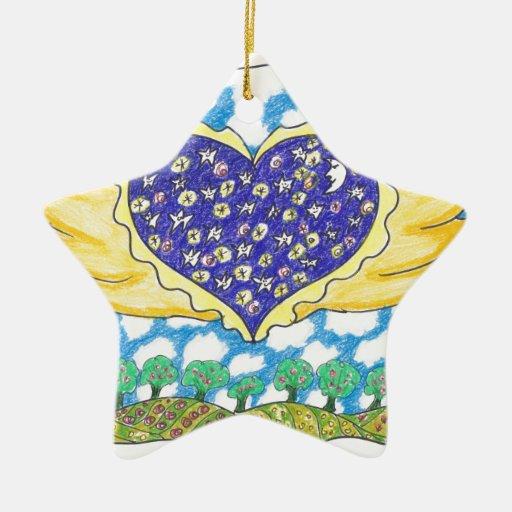 CORAZÓN CON ALAS NOCHE de Ruth I. Rubin Ornamentos De Reyes