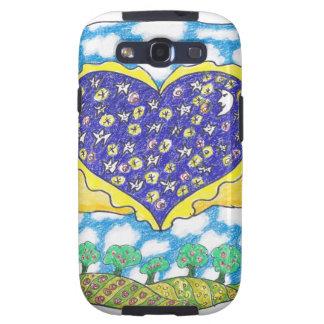 CORAZÓN CON ALAS NOCHE de Ruth I. Rubin Samsung Galaxy S3 Protector