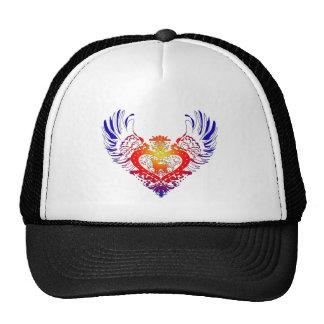 Corazón con alas perro de la chihuahua gorro