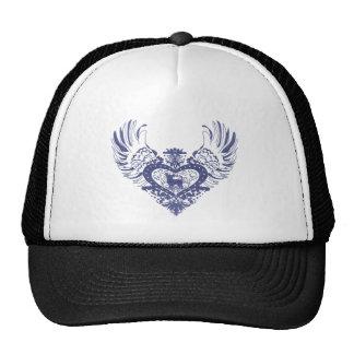 Corazón con alas perro de la chihuahua gorras de camionero