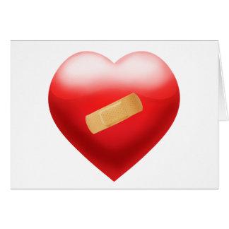 Corazón con BandAid Tarjeta De Felicitación