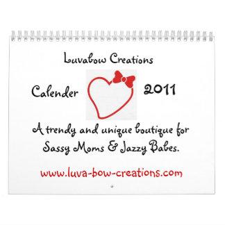corazón con el arco, creaciones de Luvabow, Calendarios De Pared