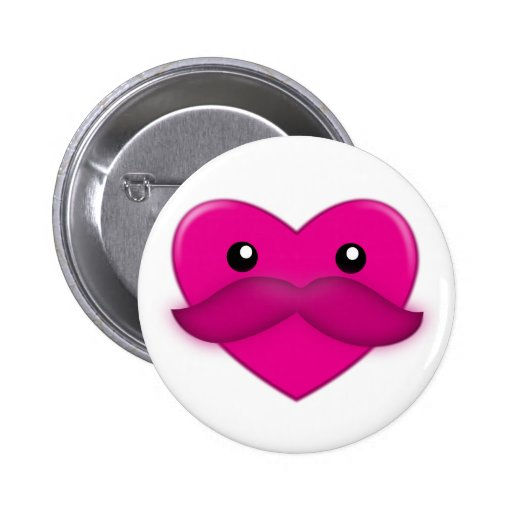 Corazón con el botón del bigote
