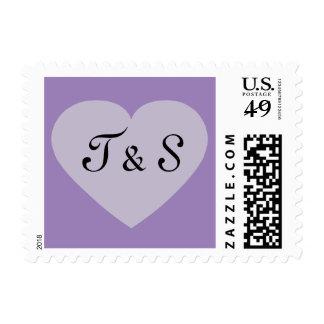 Corazón con iniciales sello
