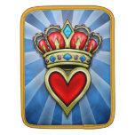 Corazón con la corona funda para iPads