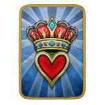 Corazón con la corona fundas macbook air