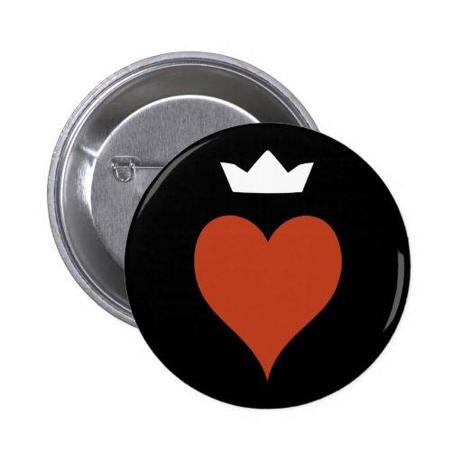 Corazón con la corona pins
