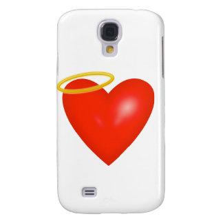 corazón con la cubierta de IPhone 3 del halo Funda Para Galaxy S4