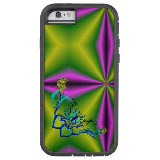 Corazón con la flor y la mariposa funda tough xtreme iPhone 6