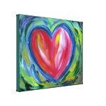 Corazón con la pintura del arte de la pintura de l impresiones en lona estiradas