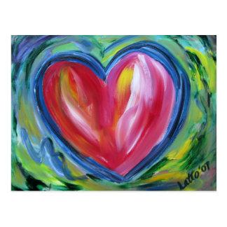 Corazón con la postal de la esperanza