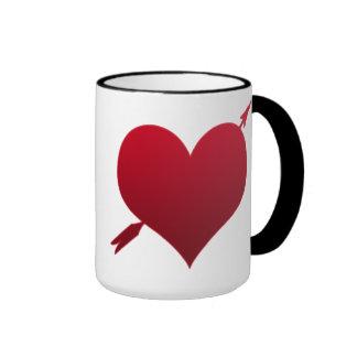 corazón con la taza del campanero de la flecha