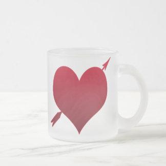 corazón con la taza helada flecha