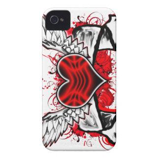 Corazón con las alas Case-Mate iPhone 4 carcasa