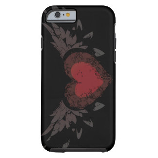 Corazón con las alas funda de iPhone 6 tough