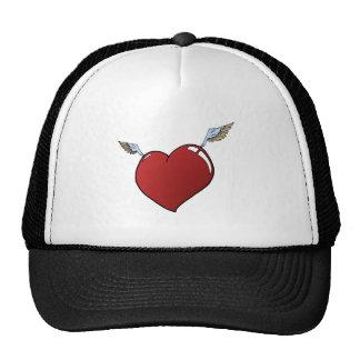Corazón con las alas gorras de camionero